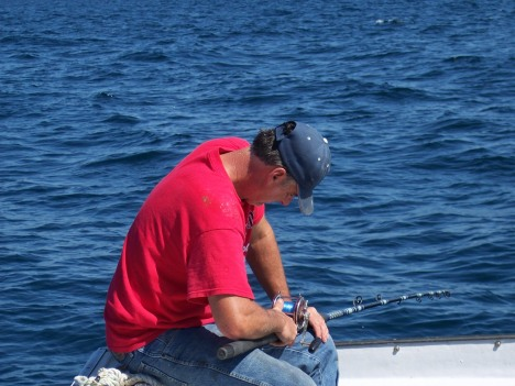 the novice angler should always take their sea sick pills 1 hour before departure.